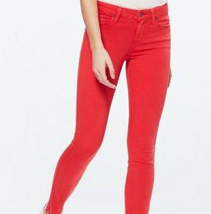 Paige Jeans Bright Orange Verdugo Ultra Skinny